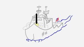 Nave della marina militare stock footage