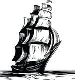 Nave della vela royalty illustrazione gratis