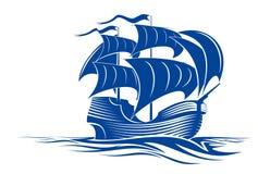 Nave della vela illustrazione vettoriale