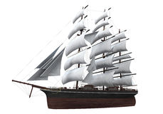 Nave della vela isolata Fotografie Stock Libere da Diritti