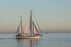 Nave della vela nel mar Mediterraneo Fotografia Stock