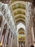 Nave di Almudena Cathedral Madrid, Spagna Fotografie Stock Libere da Diritti