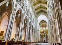 Nave di Almudena Cathedral Madrid, Spagna Fotografie Stock
