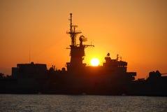 Nave di battaglia Immagine Stock