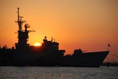 Nave di battaglia Fotografia Stock