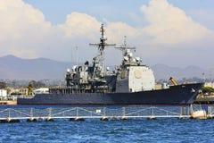Nave di battaglia del blu marino degli Stati Uniti Immagini Stock