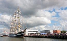 Nave di Kruzenshtern a Tallinn Fotografia Stock Libera da Diritti