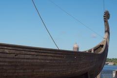 Nave di legno antica di Vichingo Fotografie Stock Libere da Diritti