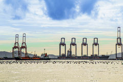 Nave di nave al porto marittimo Fotografia Stock