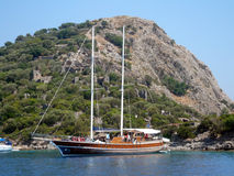 Nave di navigazione alberata alta Fotografia Stock Libera da Diritti