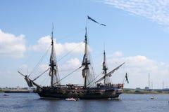 Nave di navigazione del pirata Fotografia Stock