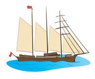 Nave di navigazione di colore Illustrazione di Stock