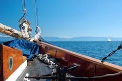 Nave di navigazione di legno alta dell'annata Fotografia Stock