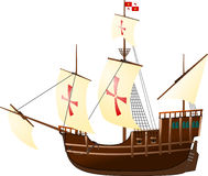 Nave di navigazione di Santa Maria royalty illustrazione gratis