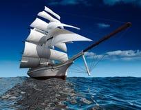 Nave di navigazione in mare Immagine Stock Libera da Diritti