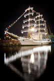 Nave di navigazione messicana Cuauhtemoc nel porto di Odessa Fotografia Stock