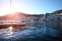 Nave di navigazione in porticciolo di Monte Carlo fotografia stock