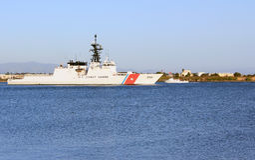 Nave di pattuglia della guardia costiera degli Stati Uniti Immagine Stock Libera da Diritti