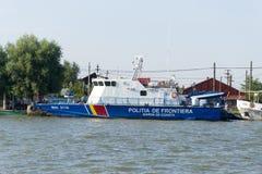 Nave di pattuglia rumena della polizia di frontiera fotografia stock libera da diritti