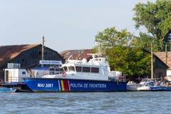 Nave di pattuglia rumena della polizia di frontiera fotografia stock