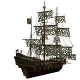 Nave di pirata illustrazione di stock