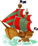 Nave di pirata Fotografie Stock