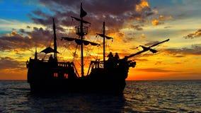 Nave di pirata nel mare caraibico fotografia stock libera da diritti
