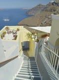 Nave di Santorini Immagini Stock