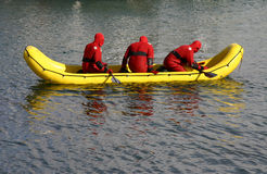Nave di soccorso dell'acqua fredda Fotografia Stock Libera da Diritti