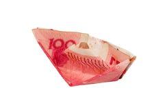Nave di soldi cinesi Fotografie Stock