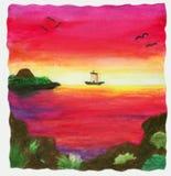 Nave di tramonto (1999) Immagine Stock Libera da Diritti