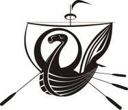 Nave di Vichinghi illustrazione di stock