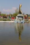 Nave di Viking nel parco di Europa Fotografia Stock