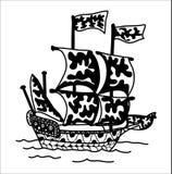 Nave di Zentangle illustrazione vettoriale