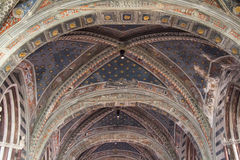 Nave of Duomo di Siena. Metropolitan Cathedral of Santa Maria Assunta. Tuscany. Italy. Stock Image