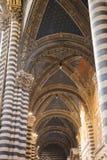 Nave Duomo di Siena Wielkomiejska katedra Santa Maria Assunta tuscany Włochy Obrazy Stock