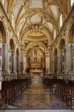 Nave e altar principais dentro da catedral da basílica em Monte Cassino Abbey Italy Imagem de Stock
