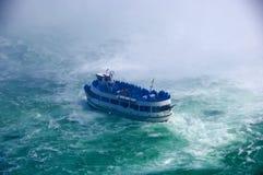 Nave en agua áspera Imagen de archivo libre de regalías
