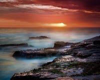 Nave en el horizonte Foto de archivo