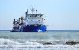 Nave en el mar Imagen de archivo libre de regalías