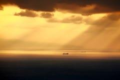 Nave en el mar foto de archivo
