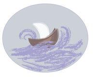 Nave en el mar Fotografía de archivo libre de regalías
