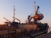 Nave en el puerto Odessa Fotos de archivo libres de regalías