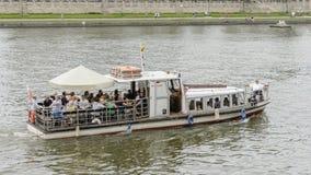 Nave en el río Vistula Imagen de archivo libre de regalías