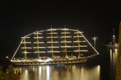 Nave en la noche Imagen de archivo libre de regalías