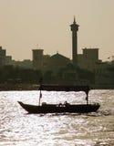 Nave en Puerto Saíd en Dubai UAE Foto de archivo libre de regalías