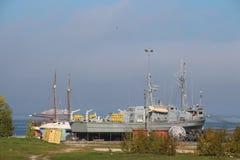 Nave en un puerto del hidroavión Foto de archivo libre de regalías