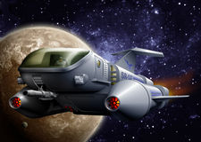 Nave espacial Foto de Stock