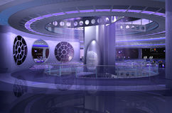 nave espacial 3D Imagen de archivo