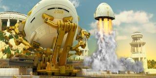 Nave espacial 1 Fotografia de Stock Royalty Free